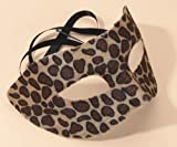 Masquerade leopard mask velvet and plastic (máscara/careta)