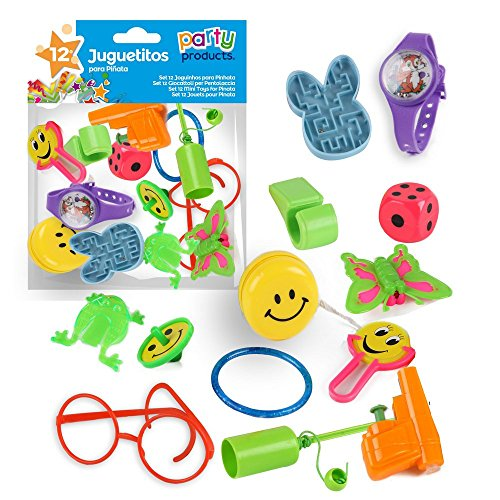 kit 12 jouets pour pinata fête anniversaire enfants pochette surprise cadeaux 8424345682004