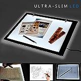 Interlink-UK A3 LED Leuchttisch Zeichen Zeichenbrett Helligkeit einstellbar Licht Pad Light Pad Dünne Malen Tracing Light Box