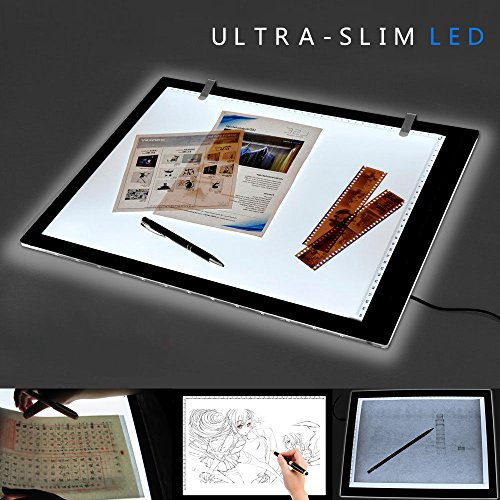 A3 LED Leuchttisch zeichen Zeichenbrett Helligkeit einstellbar Licht Pad Light Pad Dünne Malen Tracing Light Box
