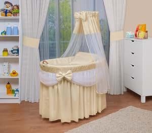 WALDIN Landau/berceau pour bébé avec équipement - 4 coloris disponibles,beige/jaune/blanc