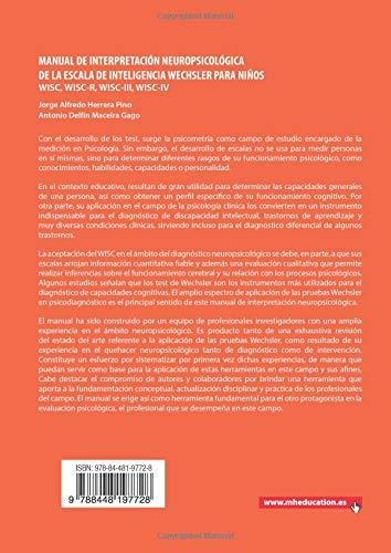Manual de interpretación neuropsicológica de la escala de inteligencia Wechsler para niños