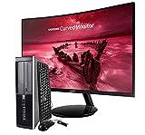 HP Elite 8300 - Ordenador de sobremesa + Pantalla Curva Samsung 27' (Intel Core I5-3470 Quad Core, 8GB RAM,HDD de 500 GB, DVD, Windows 10 Pro Original) Negro (Reacondicionado)