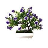 Simulation Rose Plant Multi-Fork Mini-Kunststoff vergossen Desktop Dekoration Bonsai Craft Green Plant-Startseite und Freunde Geschenk Gefälschte Pflanze mit Kunststofftöpfen für die Inneneinrichtung