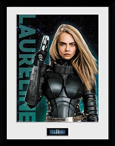 Preisvergleich Produktbild 1art1 106733 Valerian – Die Stadt Der Tausend Planeten - Laureline Gerahmtes Poster Für Fans Und Sammler 40 x 30 cm