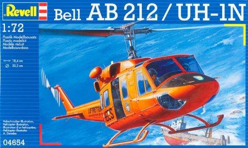 Revell Modellbausatz 04654 - Bell AB212 im Maßstab 1:72