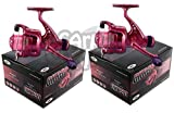 2 x CKR30 Pink Fishing Reels Loaded with 6LB Line For Coarse Match Lake River