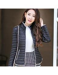 WJP mujeres ultra ligero de la chaqueta poco voluminoso abajo Outwear amortiguar por la chaqueta W-1858