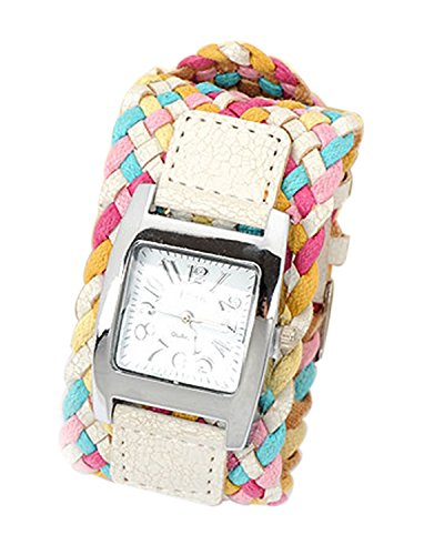 Young & Forever Valentine Special Multi-Colourcolored Braided Band Watch Bracelet For Women by CrazeeMania