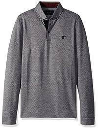 Ted Baker Men's Trever Modern Slim Fit Ls Jacquard Oxford Polo