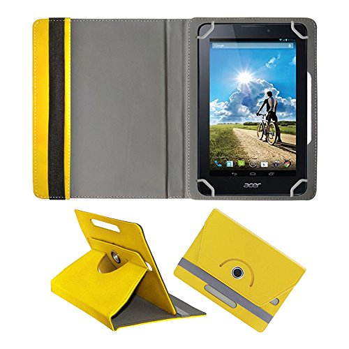 Fastway Rotating 360° Leather Flip Case For Acer Iconia A1-713 8 GB Yellow  available at amazon for Rs.299
