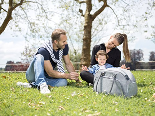 Babymoov Wickeltasche Trendy Bag black Grau