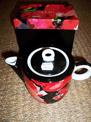 Boite-a-cadeaux - Théière Rouge Et Noir Modèle Enzo De La Marque SEMA