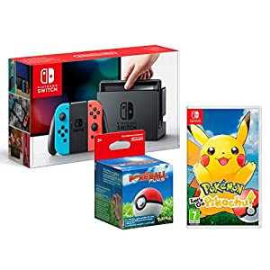 Nintendo Switch 32Gb Neon-Rot/Neon-Blau + Pokémon: Let´s Go, Pikachu! + Poké Ball Plus