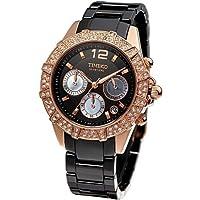 Time W50056L.03A - Orologio da polso da donna, cinturino in ceramica colore nero