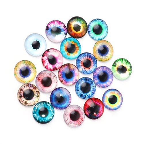 A0127 20 Stück 10-20mm Teddyaugen Sicherheitsaugen Glasaugen Puppe Augen DIY plüschtiere zubehör (Glasaugen Puppen Für)