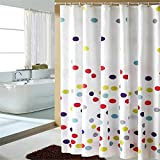 LESOLEIL Rideau de douche étanche anti-mousse impression en polyester 180x200cm pour salle de bain