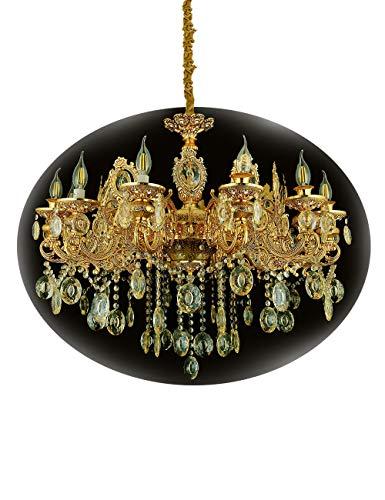 eplazalighting Dorà lustres 12bras Zinc Cristal d'Ãclairage 95cm pour le salon Lustre Chambre à coucher Plafonnier lustres -