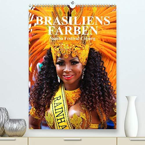Brasilien Tanz Kostüm - Brasiliens Farben(Premium, hochwertiger DIN A2 Wandkalender
