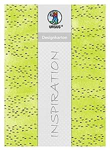 Ursus 62414606F Halleluja - Cartón de diseño, 200 g/m², 5 Hojas, DIN A4, Color Verde