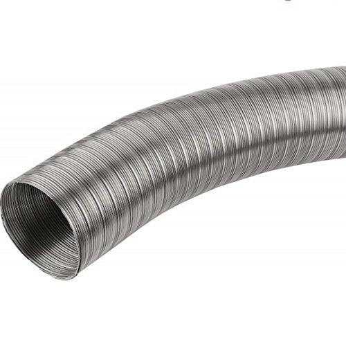 Edelstahl Flexrohr (Wellrohr flexibel säurebeständiger Edelstahl Flexrohr V2A Handlauf Auspuff VA (Ø 100 mm, 1 Meter))