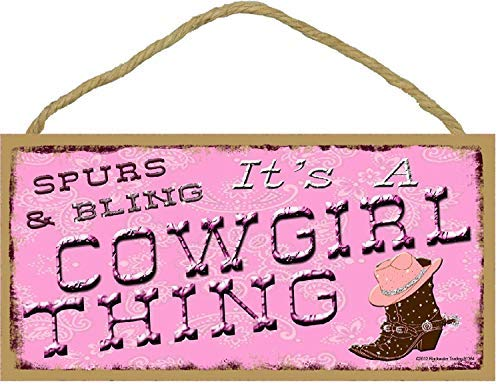 Bling Schild It's a Cowgirl Thing Western Rodeo Pink Boots 12,7 x 25,4 cm ()