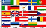 Flag Wholesaler Euro 25 Nations Flagge, Mehrfarbig, Large