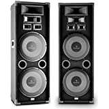 """auna PA-2200 - Paire d'enceintes de sonorisation PA Full Range avec 2 x Subwoofer 12"""" - 2000w max"""
