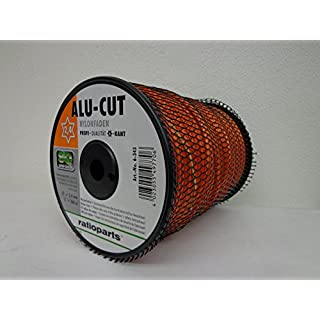 Alu-Cut Nylonfaden 6-kant 2,4mm x 360m mit Aluminiumpartikeln