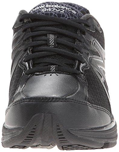 New Balance Womens 847v2 Walking Shoe,Black,US 6.5 2E Black
