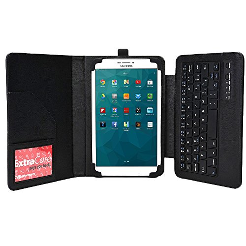 Cooper Cases(TM) Workstation Custodia con Tastiera Stile Ufficio per Samsung Galaxy Tab 3 V (SM-T116NU) con Porta Stilo, Scomparto per Carte, Tasca per Documenti e Supporto per Display