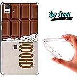 Becool® Fun - Funda Gel Flexible para Bq Aquaris E5 4G .Carcasa TPU fabricada con la mejor Silicona, protege y se adapta a la perfección a tu Smartphone y con nuestro diseño exclusivo Tableta de chocolate