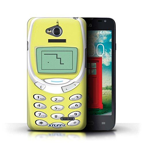 Kobalt® Imprimé Etui / Coque pour LG L65/D280 / Nokia 8210 noir conception / Série Portables rétro Nokia 3310 jaune