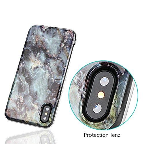 xhorizon Couvercle Housse en TPU Souple Flexible Marbre Pierre Motif Séries Protéger Contre Rayure Doigt Léger Convenable pour iPhone X / iPhone 10 #2