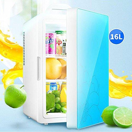 Réfrigérateur De Voiture De 16L Double Usage De Voiture Et De Maison Mini Refroidissement Et Chauffage Silencieux De 12 / 220V économie D'énergie,Blue-Dual-Core
