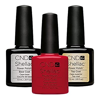 CND Wildfire Original CND Coloured Shellac with CND Shellac Base and Top Coat 7.3ml, 1er Pack (1x 22ml)