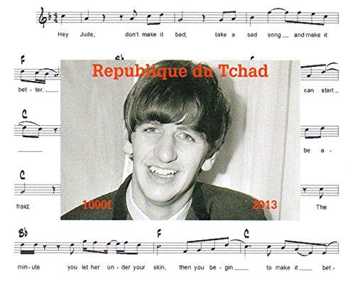 I Beatles francobolli da collezione - Ringo Starr Imperforate francobollo minifoglio miniatura - condizioni superbe e mai incernierate - 2013 / Ciad / 1000F