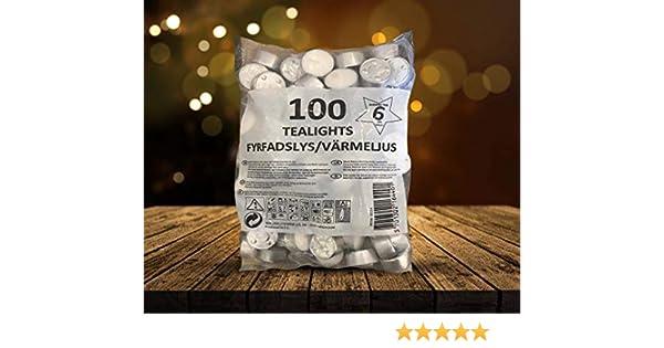 NLF Candles 100 pi/èces 800 unit/és Promol Candle Lot de 8 Sacs T/éalIGHTS 6H