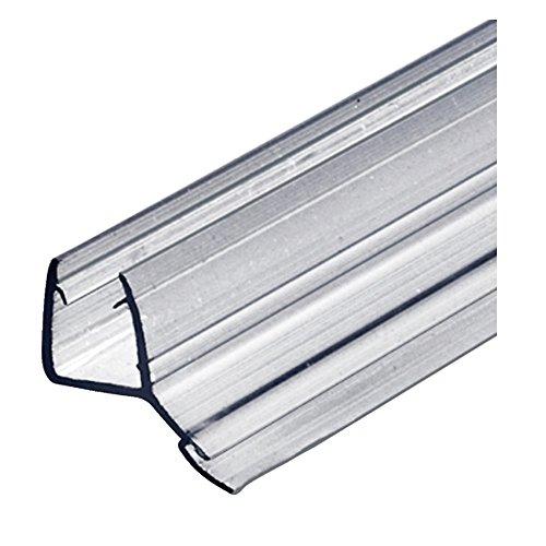 Gedotec Ersatzdichtung 100 cm Duschdichtung 135° Glastür-Dichtung gerade Bodendichtung für Duschkabinen & Glastüren | PVC Transparent | Dichtlippe für Glasdicke 8-10 mm | 1 Stück - Türdichtung Glas