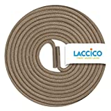 LACCICO Finest Waxed Laces® Durchmesser 2 mm Runde Dünne Elegante Gewachste Schnürsenkel Farbe: Taupe Länge: 60 cm