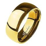 Mianova Band Ring Edelstahl Bandring Ehering Herrenring Damenring Partnerring Verlobungsring Damen Herren Gold Größe 60 (19.1) Breit 8mm