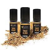 Vaps'Premium - E-liquide Tabac Blond - 3 x flacons de 10 ml - 00 mg - Sans nicotine ni tabac