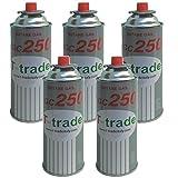 Bombolette Gas Butano Multipack 5 pezzi 250 Grammi Fornelli Campeggio Casa