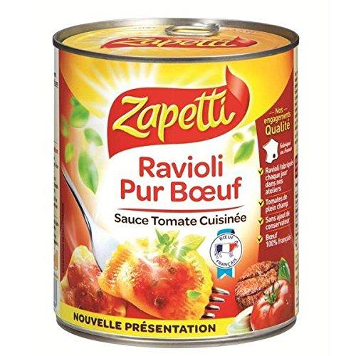 Zapetti pure beef ravioli 4/4 800g - ( Unit Price ) - Zapetti ravioli pur boeuf 4/4 800g