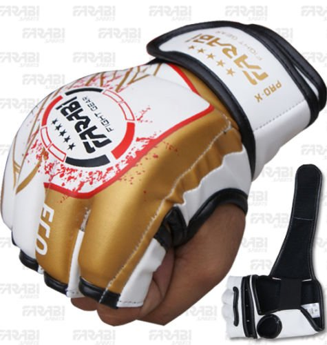 Farabi MMA Fighter gloves Tapout Synthetic Leather Series for Muai Thai , Martial Arts , Kickboxing UFC Cage Grappling Training Sparring Workout punching Sessions. Test