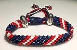 Sportarmband, Mary 's Terrace NFL Ropes - Es ist das ideale Geschenk für jeden Fan des American Footballs und der NFL-Liga. Jede NFL-Farbe ist möglich, somit ist es ein tolles Geschenk für jeden Football-Fan., NEW YORK GIANTS
