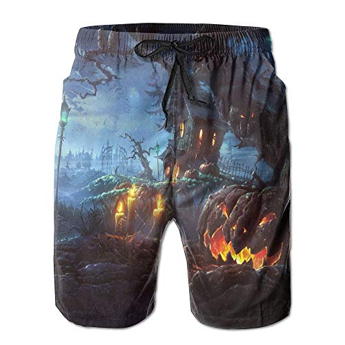 lloween Quick Dry Summer Boardshort Swimm Surf Trunk Beach Shorts (XXL) ()