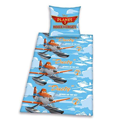 Herding 464378050412 Bettwäsche Disney's Planes, Kopfkissenbezug: 80 x 80 cm und Bettbezug: 135 x 200 cm, 100% Baumwolle, Flanell/Biber (Flugzeug Disney Bettwäsche)