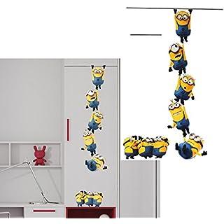Unbekannt große _ Wandtattoo / Sticker -  Minion - Ich einfach unverbesserlich / Kette  - Wandsticker - Aufkleber für Kinderzimmer - selbstklebend + wiederverwendbar ..