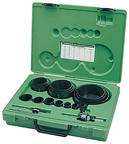 Greenlee 890 Industrial Maintenance Bi-Metal Hole Saw Kit For 3/4 Through 4-3/4 Conduit Size by Greenlee